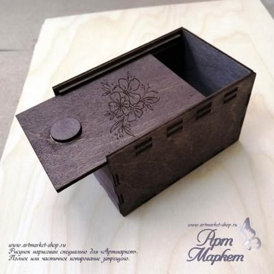 Деревянная коробочка-пенал РАЗМЕР: 7х5х2,5 см