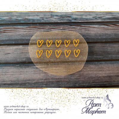 Сердечки золотые РАЗМЕР: 7х3 см