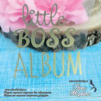 надпись Little boss album размер 7х7,5 см