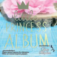 надпись Little princess album размер 7х8,5 см