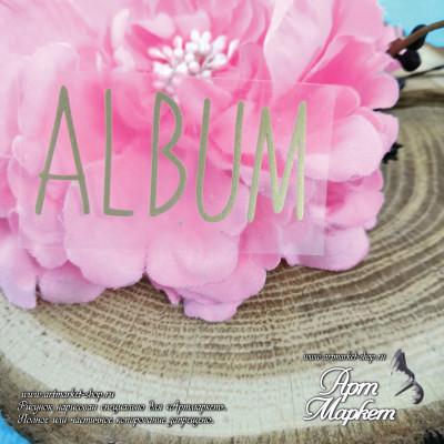 надпись Album размер 5х2,5 см