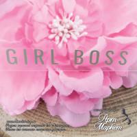 надпись Girl boss размер 5,3х0,8 см