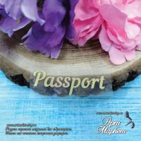 Надпись Passport размер 6х2 см