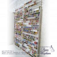 Стеллаж для игрушек из акрила РАЗМЕР: 130 х 35 х 15 см