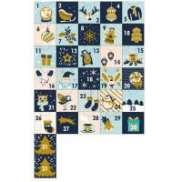 Наклейки для Адвент-календаря в сине-голубой гамме РАЗМЕР: А4