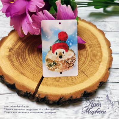 Пластиковая карточка Ежик РАЗМЕР: 5,4х8,5 см
