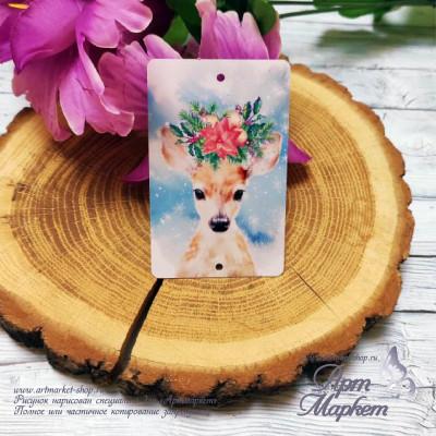 Пластиковая карточка Олень РАЗМЕР: 5,4х8,5 см
