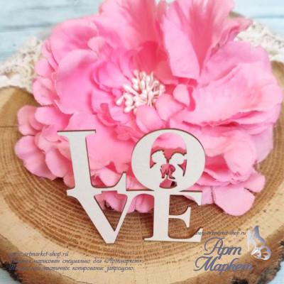 Чипборд Love Влюбленная пара РАЗМЕР: 10 х 9,5 см