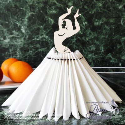 Салфетница Танцовщица РАЗМЕР: 23,5х12х13,4 см