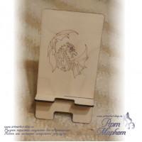 Подставка для смартфона Дракон линейный, РАЗМЕР: 15х8х9 см